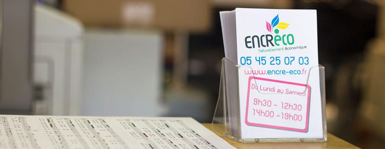 Tous les tarifs d'Encre'Eco Angoulême