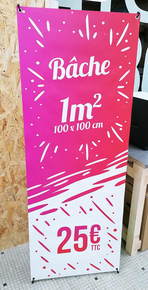 Bâche 160x60cm sur support X-banner par EncreEco Angouleme